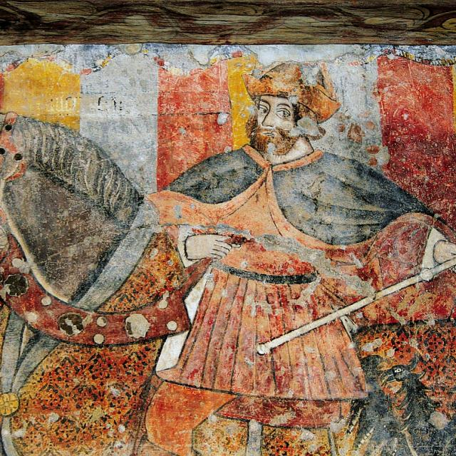 Fresque château de Bioule