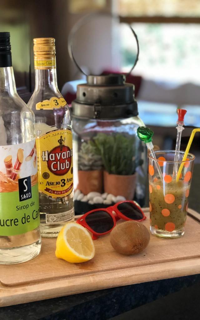 Daikiwi Cocktail Et Ingredients