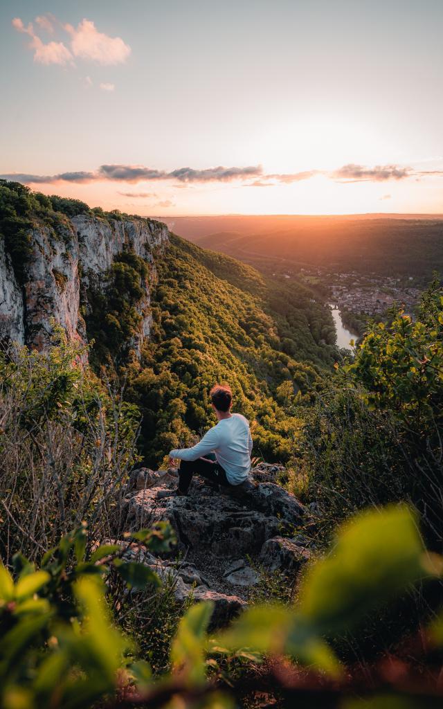 Coucher de soleil sur les Gorges de l'Aveyron